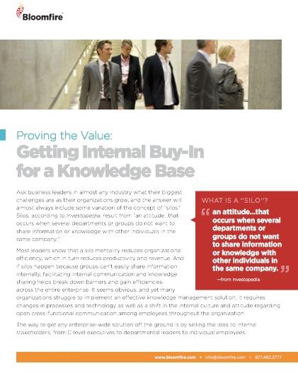 Knowledge Base Buy-in